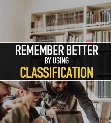 Remember better by using Classification
